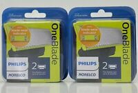 Philips Norelco OneBlade Replacement Blades 2 Packs 4 Total QP220/80 Wet/Dry New