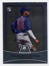 2010 Bowman Platinum STARLIN CASTRO Logo Rookie Card RC #96 Miami Marlins RARE