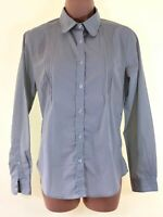 ROHAN grey gingham check pattern stretch worldview shirt blouse top size 8