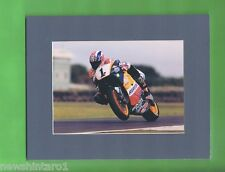 #T35. #2. MOTORCYCLE RACING  PICTURE IN GREY CARDBOARD MAT