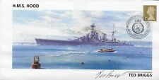 HMS HOOD FDC in person signed BY SURVIVOR Ted Briggs