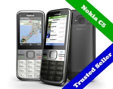 ~ ORIGINAL ~ 3G Nokia C5 Mobile Cell Phone Package   Unlocked   6 Month Warranty