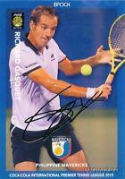 Richard Gasquet 2015 Epoch IPTL Tennis Gold Foil Facsimile Signature #8/10 MINT