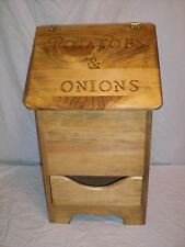 potatoe  and onion bin  with bottom design