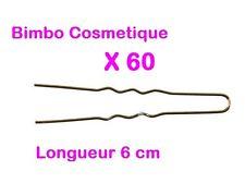60 Epingle Neige Pince Barrette Blonde à Cheveux Invisible 6 cm Coiffure Chignon