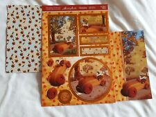 Hunkdory Kit - Woodland Wheels - Die Cut Topper Sheet & 2 Backing Cards