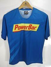 New listing PowerBar Team Elite Men's T Shirt Blue Size Large Pactimo Sports Apparel