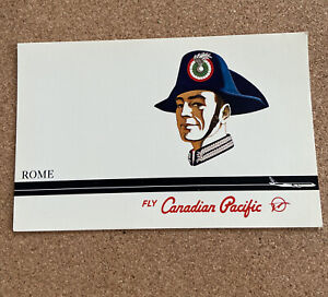 Fly CANADIAN PACIFIC Airlines ROME Vintage Original Postcard