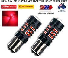 2X BAY15D 1157 RED LED BRAKE STOP TAIL LIGHT BULBS GLOBE SUPER BRIGHT ERROR FREE
