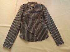 LADIES VINTAGE LARGE ABERCROMBIE & FITCH BLUE PINK STRIPED SHIRT CHEST 36""
