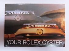 Your Rolex Oyster Booklet 579.36 USA - 75 -9.1985