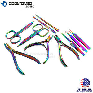 Rainbow Dead Skin Remover Cuticle Nippers Scissors Nail (Choose one option)