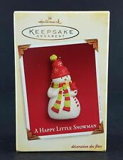Hallmark Keepsake Ornament - A Happy Little Snowman - 2005 - New & Mint In Box