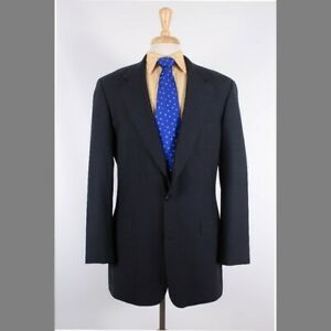 Brooks Brothers 39R Gray Solid 100% Wool Two Button Sport Coat Blazer Jacket