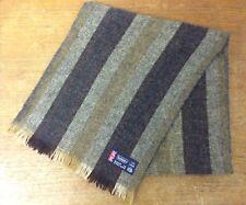 Vintage 60s 70s Brown Striped Sammy Scarf 100% Wool