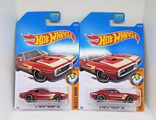 2017 Hot Wheels '67 Pontiac Firebird 400 - No. 284 - Metalflake Red - Set of 2