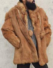 "New listing Vintage Real Red Fox fur jacket men fur coat Outer Wear Winter Bust 46"""