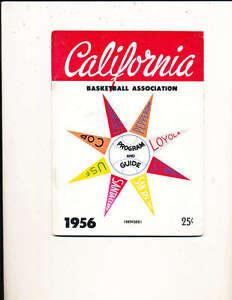 1956 California Basketball Association guide Bill Russell BkBx1