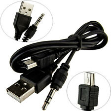 USB 2.0 male to mini B male 3.5mm Jack Plug Audio Video Transfer Cable One-two