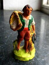 Santon en terre cuite peint Fouque - Vincent le vannier 6 cm