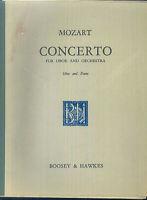 Mozart ~ Konzert für Oboe und Orchester - Klavierauszug