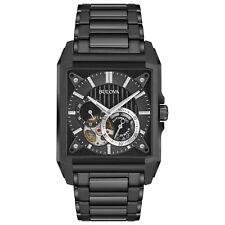Bulova 98A180 Men's Automatic Collection Open Heart Window Black 39mm Watch