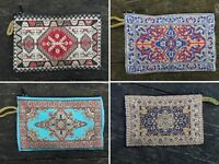 d11804c2b1 Persian Kilim Patterned Coin Purses, Zippered Storage Bags, Hippie Gypsy  Boho