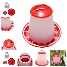 Plastic Chicken Quail Poultry Chick Hen Drinker Food Feeder Waterer Bucket 1.5L