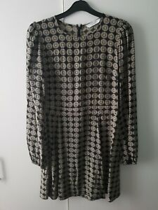 &other Stories Dress Coin Pattern Long Sleeve Size UK 14 EU 40 Casual