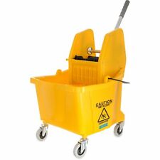 New ListingCarlisle 3690504 Commercial Mop Bucket With Down Press Wringer, 35 Quart Yellow