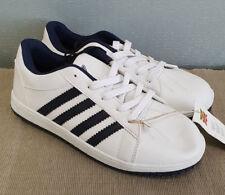 BNWT Boys Sz 1 Quality Rivers Brand Navy White Athletic Jogger Shoes