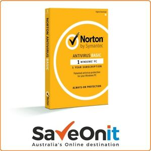 Norton Antivirus 2020 1 PC 1 year License key digital email delivery
