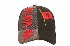 ALBANIA BLACK COUNTRY FLAG EMBOSSED HAT CAP .. NEW