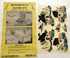 1950's Large Meyercord Decals with Black and White Swans