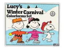 Colorforms Retro Lucy's Winter Carnival Art and Craft Kit #111 - Peanuts Vintage
