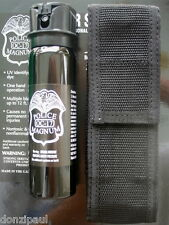 Police Magnum mace pepper spray 4oz flip top stream nylon holster belt loop
