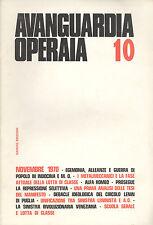 Avanguardia Operaia n° 10  Novembre  1970