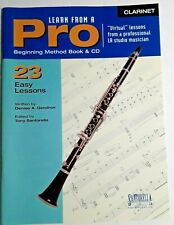 Learn Clarinet From a Pro, Book & Cd, Santorella , 23 Easy Lessons