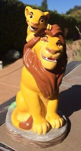 Disney Lion King Mufasa And Simba Ceramic Coin Bank