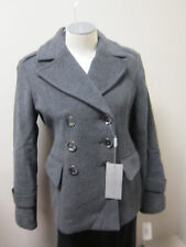 Andrew Marc Double Breasted Short Wool Peacoat Coat Charcoal NWT $340