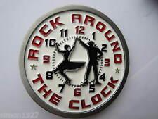 Rock and Roll Gürtelschnalle Rock around the clock heute Abend.