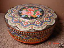 Vintage,Tin,England,Round,Floral,Beautiful,Multi colors