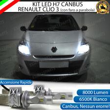 KIT FULL LED RENAULT CLIO 3 PARABOLA LED H7 6500K ABBAGLIANTE CANBUS 8000 LUMEN
