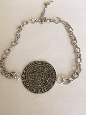 Edward I Groat  Coin WC9 English Pewter on a Anklet / Bracelet