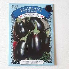 Eggplant Black Beauty American Seed Plant Vegetable Aubergine Plus 1 PACKET FREE
