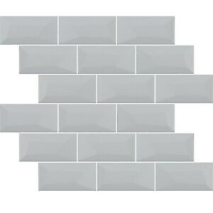 Libra Grey Brick Mosaic Tiles Sheet For Walls Floors Bathrooms Kitchen
