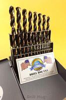 Drill Hog USA 21 Pc Jr Drill Bit Set Index Molybdenum M7 MOLY Lifetime Warranty