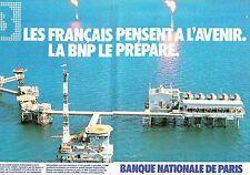 PUBLICITE ADVERTISING 027  1981  BNP  banque (2p)  l'avenir