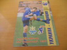 PROGRAMME OFFICIEL UKRAINE FRANCE 1999