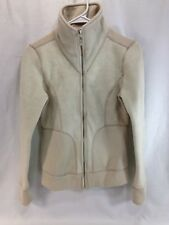 Prana Sweater Womens Small Beige Full Zip Long Sleeve Sweatshirt Athletic